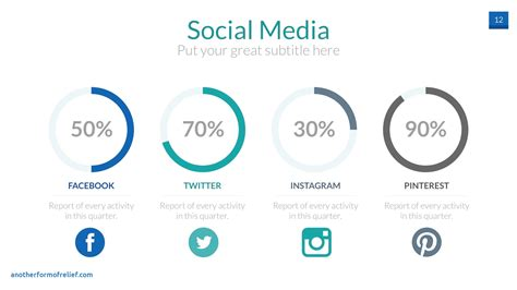 free social media powerpoint template free social media report template new media powerpoint