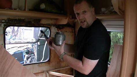how to repair a caravan water leak damage part 2