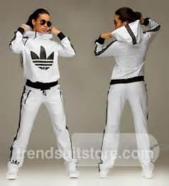 Zip Hood Tracksuit Stylish Womens Hooded Zip White Tracksuit Adidas Originals Pinterest