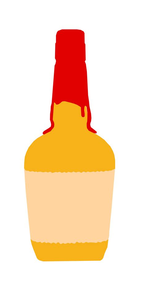 chagne bottle outline vector makers bourbon bottle