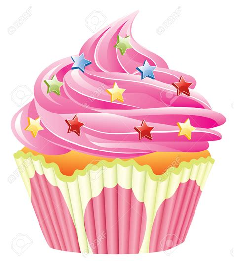cake clip frosting clipart cupcake sprinkle pencil and in color