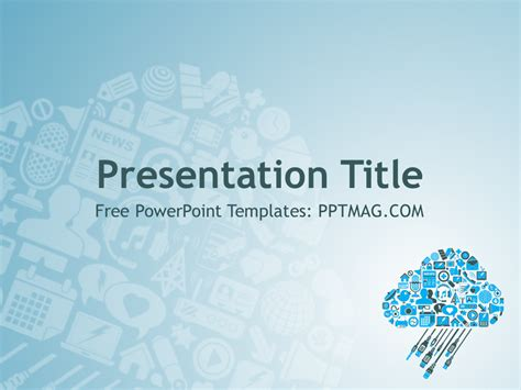 free cloud computing powerpoint template pptmag