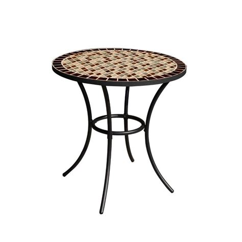 Outdoor Bistro Table Shop Garden Treasures Pelham Bay 28 In W X 28 In L Steel Bistro Table At Lowes
