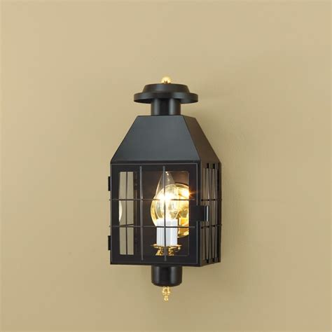 American Outdoor Lighting Norwell Lighting American Heritage Black Outdoor Wall Light 1059 Bl Cl Destination Lighting