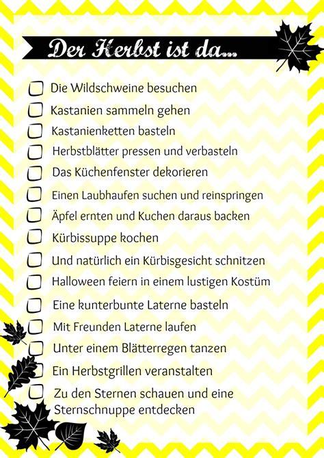 To Do Liste Ideen by Unsere Herbst List 2016 Printable Heldenhaushalt