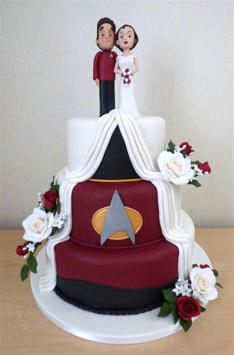 3 tier trek themed wedding cake 171 susie s cakes