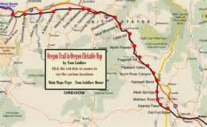 oregon trail on a map oregon trail in oregon clickable map
