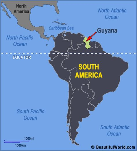 where is guyana on the world map map of guyana facts information beautiful world