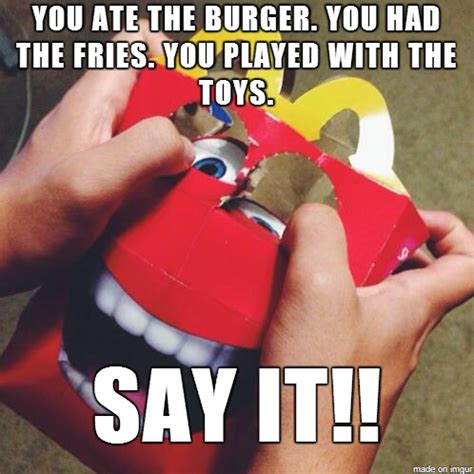Happy Meal Meme - mcmountain mcdonald s quot happy quot mascot know your meme
