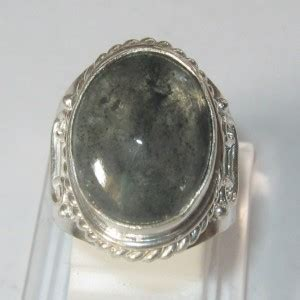 cincin pria model antik batu quartz rutilated ring 7us