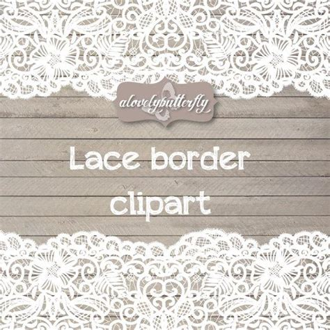 Wedding Invitation Lace Clipart by Wedding Clipart Lace Border Rustic Clipart Shabby Chic