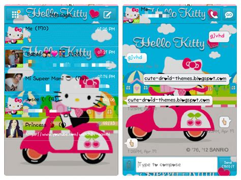 go sms themes hello kitty black cute droid themes hello kitty go sms themes