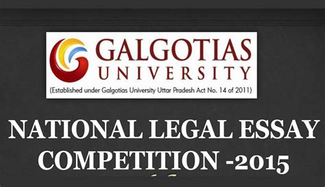 National Essay Writing Competition by National Essay Competition At Galgotias