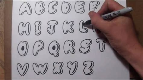 Easy Lettering how to draw letters easy graffiti style lettering