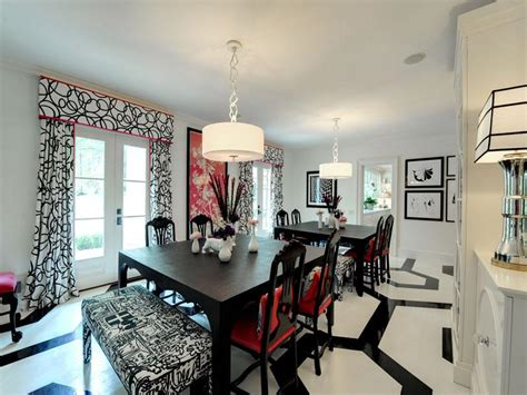 black white and red room impeccable plantation style estate