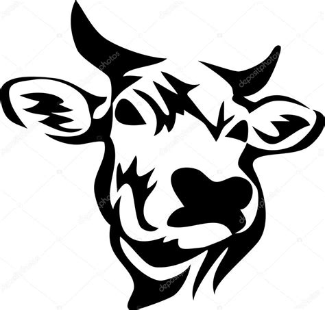imagenes de vacas a blanco y negro t 234 te de vache cornue image vectorielle 86829006