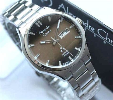 Jam Tangan Original Qq Qq Qnq Vw90j100y Brown Leather jam tangan alexandre christie ac 3024 ss automatic original
