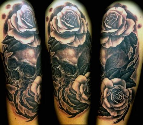 shadow rose tattoo skull roses tattoos for sleeves sleeve tattoos