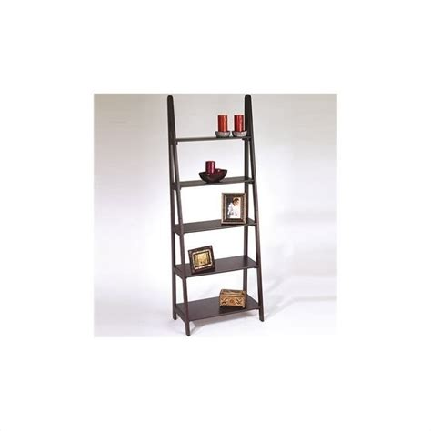 Ladder Shelf Bookcase Home Espresso 5 Shelf Ladder Bookcase Worthy Price