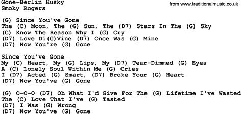 country music gone for good country music gone ferlin husky lyrics and chords