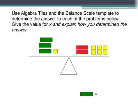 algebra tiles template ppt using algebra tiles to build a concrete