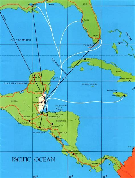 map usa and caribbean map of the southern usa caribbean central america with
