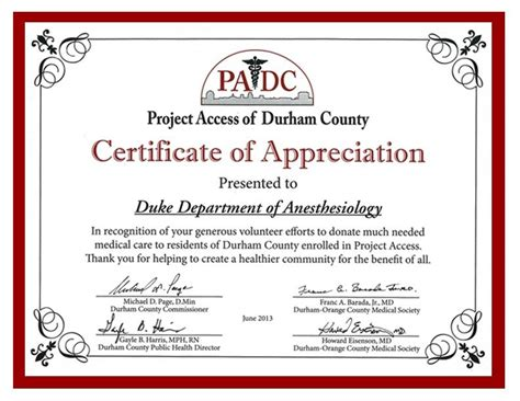 duke anesthesiology receives padc appreciation award