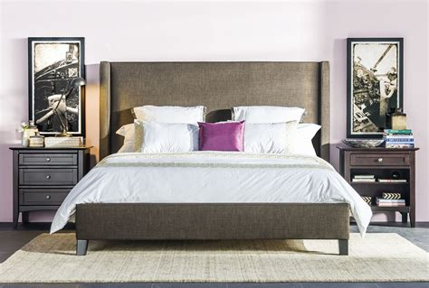 Living Spaces Beds by Gage California King Upholstered Panel Bed Living Spaces