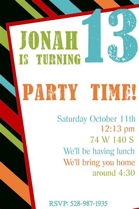printable party invitation kits free printable birthday party invitations template