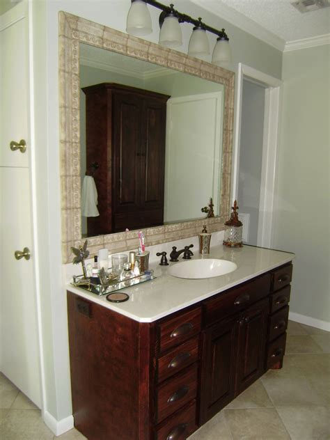 tile framed bathroom mirror cultured marble vanity tops bathroom traditional with ceramic tile framed mirror