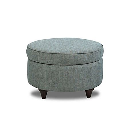 Teal Storage Ottoman Klaussner 174 Storage Ottoman In Teal Bed Bath Beyond