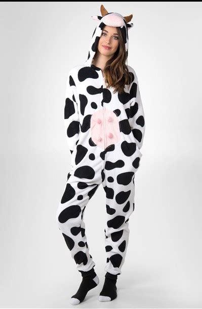Pajamas Cow pajamas cow udders horn cuffed sleeves