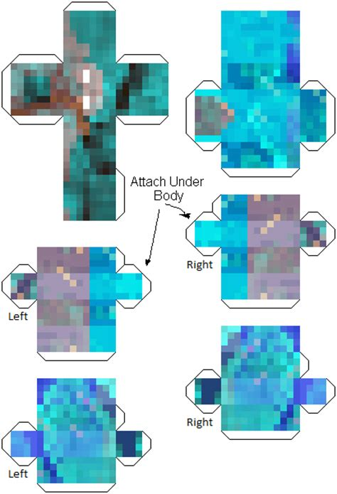 Minecraft Papercraft Herobrine - papercraft herobrine more herobrines
