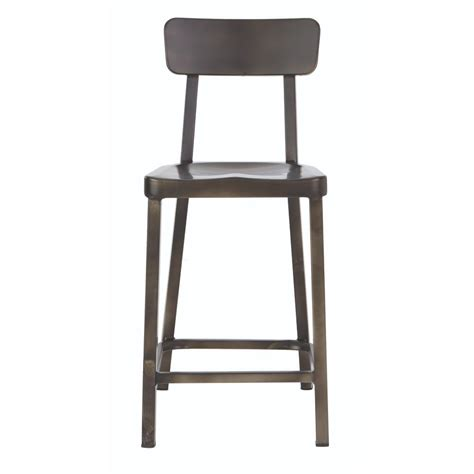 bar stool aluminum home decorators collection jacob 24 in gun metal bar