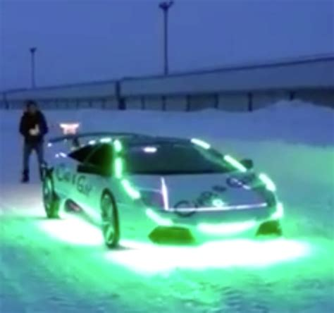 lamborghini is given an led makeover looks even more
