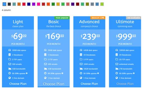 html template for table 35 best html css3 responsive pricing table templates