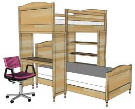 Bunk Bed With Desk White Chelsea Bunk Bed System Desk Or Bookshelf Supports Diy Projects
