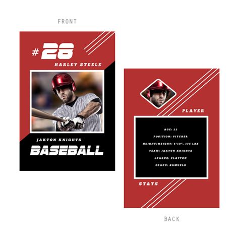 sports trading card templates