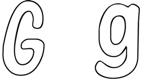 lowercase letter g coloring page best photos of large printable lower case g free