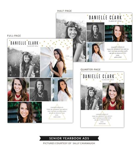 yearbook ad templates senior yearbook ads danielle senior yearbook ads