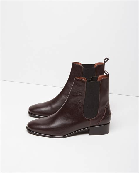 comey boots comey thora leather chelsea boots in purple lyst