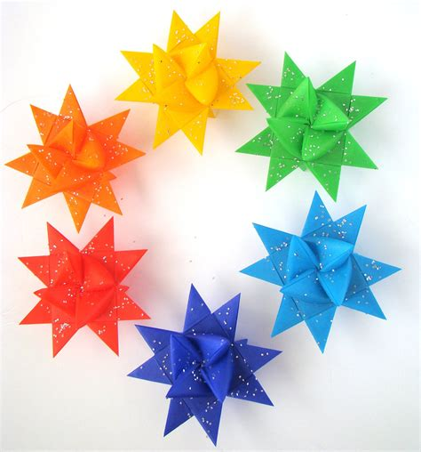 rainbow moravian set of 6 183 origami delights