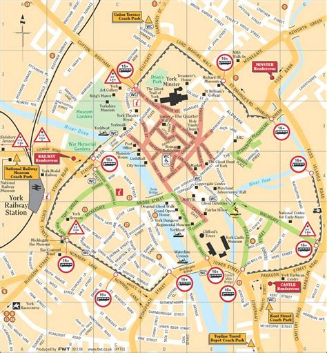 printable map york city centre large york maps for free download and print high