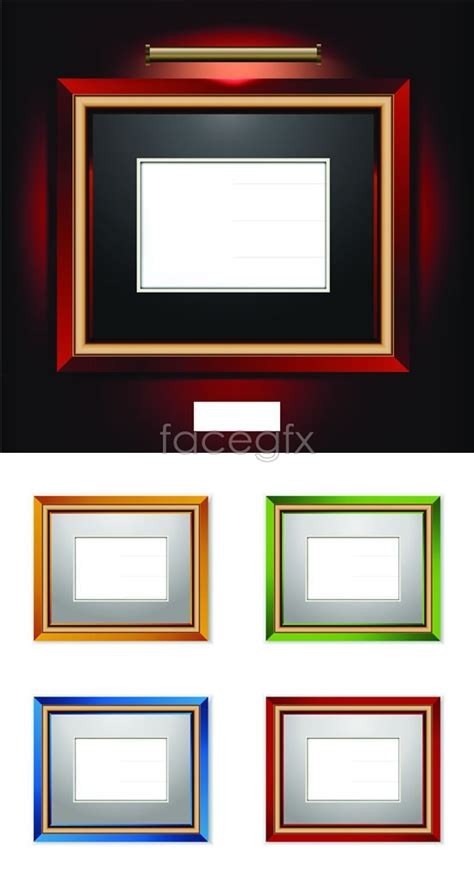 color wood photo frame vector over millions vectors