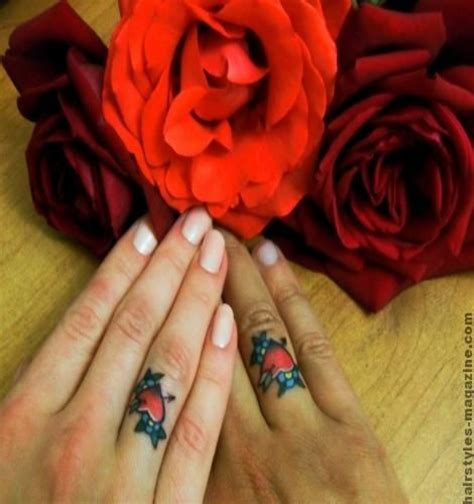 ring tattoos for couples 3 wedding ring tattoo designs
