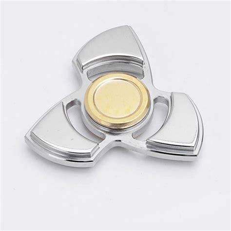 Fidget Spinner Stainless silver edc fidget tri spinner focus