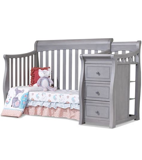 Gray Convertible Crib Sorelle Tuscany 4 In 1 Convertible Crib Combo In Weathered Gray