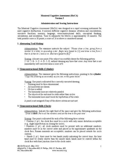 MoCA-Instructions-English.pdf | Recall (Memory) | Multiple