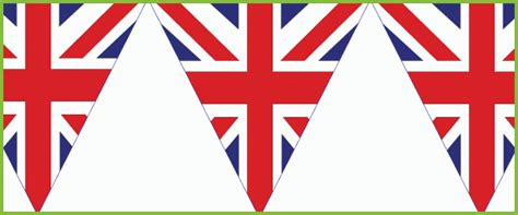 printable union jack bunting flags union jack bunting free early years primary teaching