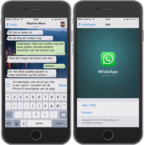 whatsapp images iphone whatsapp krijgt langverwachte iphone 6 update 187 one more thing